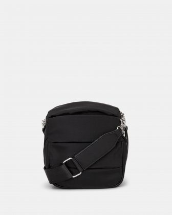 Hi Cloud - Quilted Nylon Crossbody with Main zippered compartment - Black - Joanel