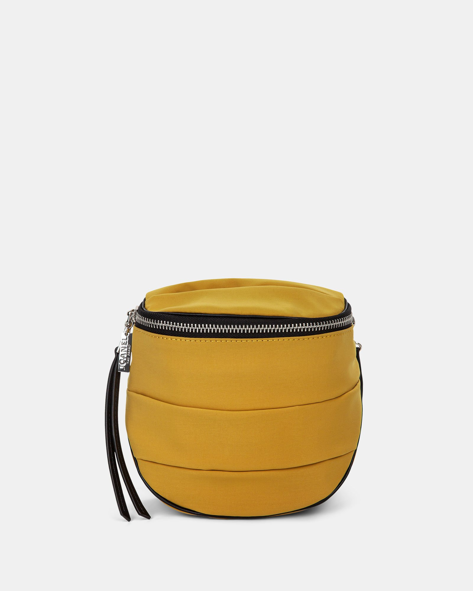 Hi Cloud - Quilted Nylon Crossbody with Main zippered compartment - Mustard - Joanel - Zoom