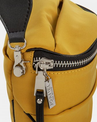 Hi Cloud - Quilted Nylon Crossbody with Main zippered compartment - Mustard - Joanel