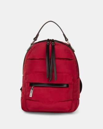 Hi Cloud - Quilted Nylon Backpack with Main zippered compartment - Bordeaux Joanel