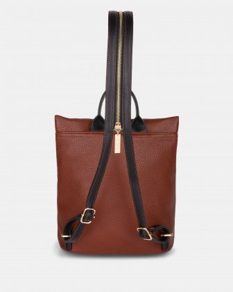 Zebranima - Backpack with Adjustable shoulder straps - Cognac Multi Joanel