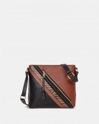 Zebranima - Crossbody with Adjustable shoulder straps - Cognac Multi Joanel