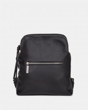 Joanel Zoom - BACKPACK with TWO zippered main section - BLACK