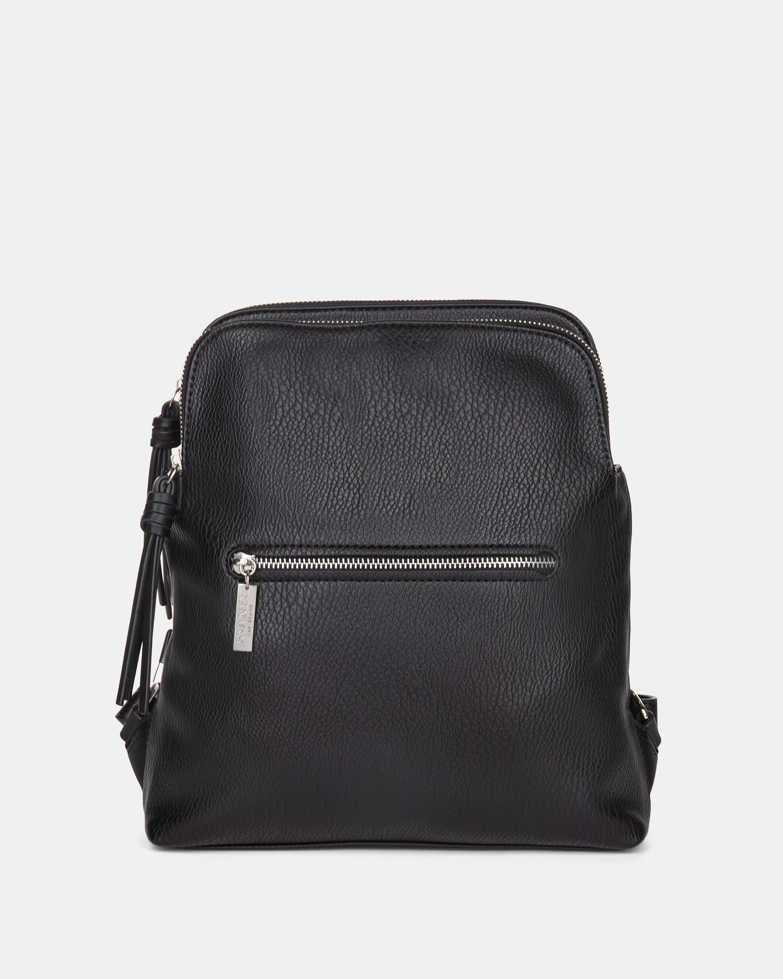 Zoom - BACKPACK with TWO zippered main section - BLACK - Joanel - Zoom