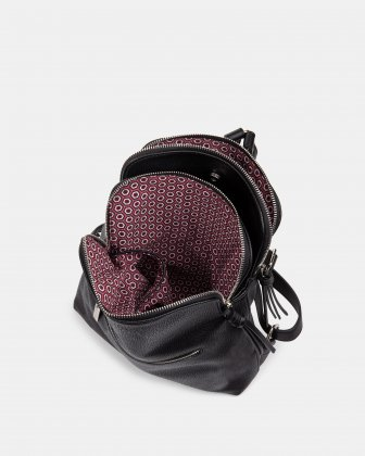 Zoom - BACKPACK with TWO zippered main section - BLACK Joanel