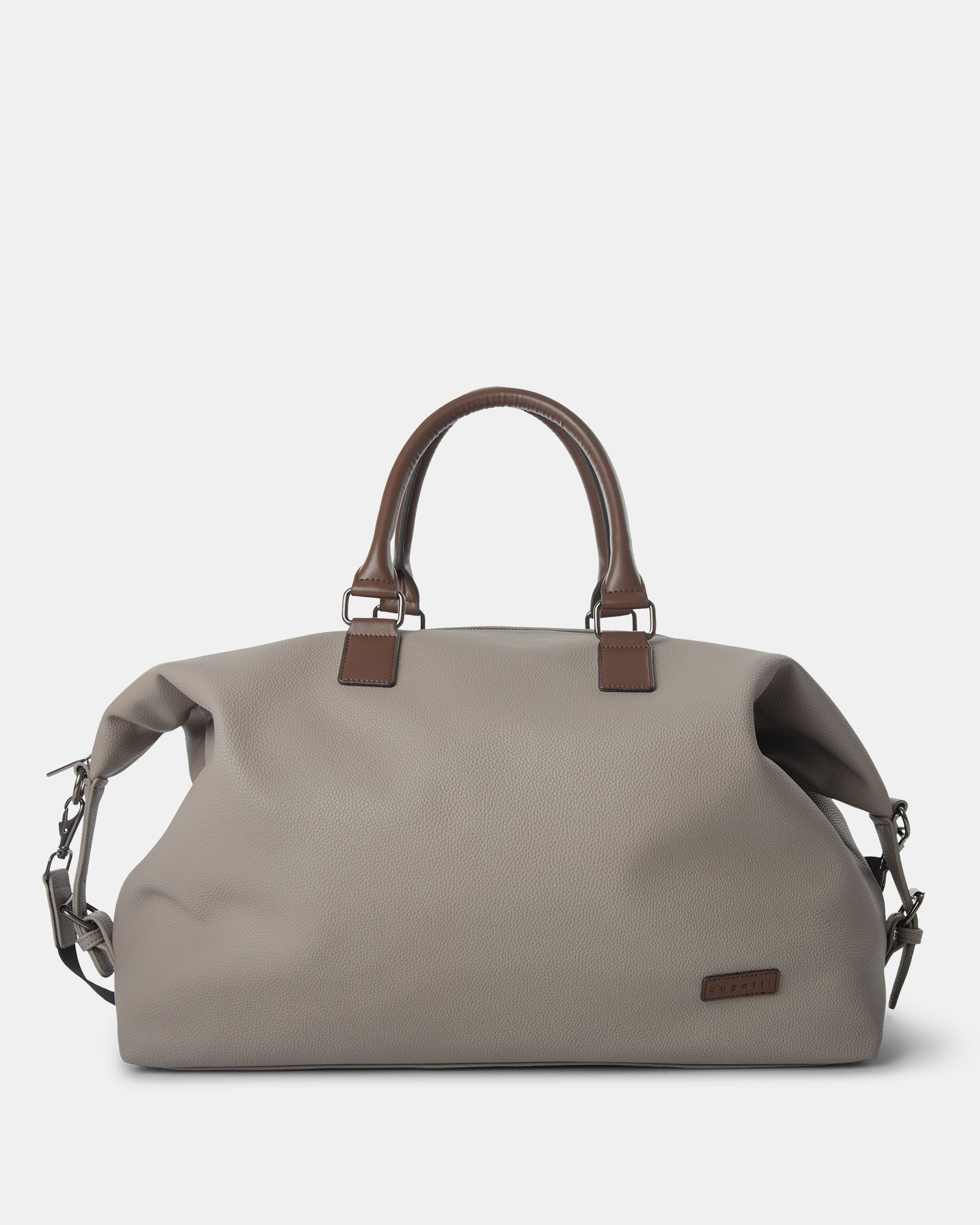 Contrast - Duffle Bag with Adjustable and removable shoulder strap - Grey - Bugatti - Zoom