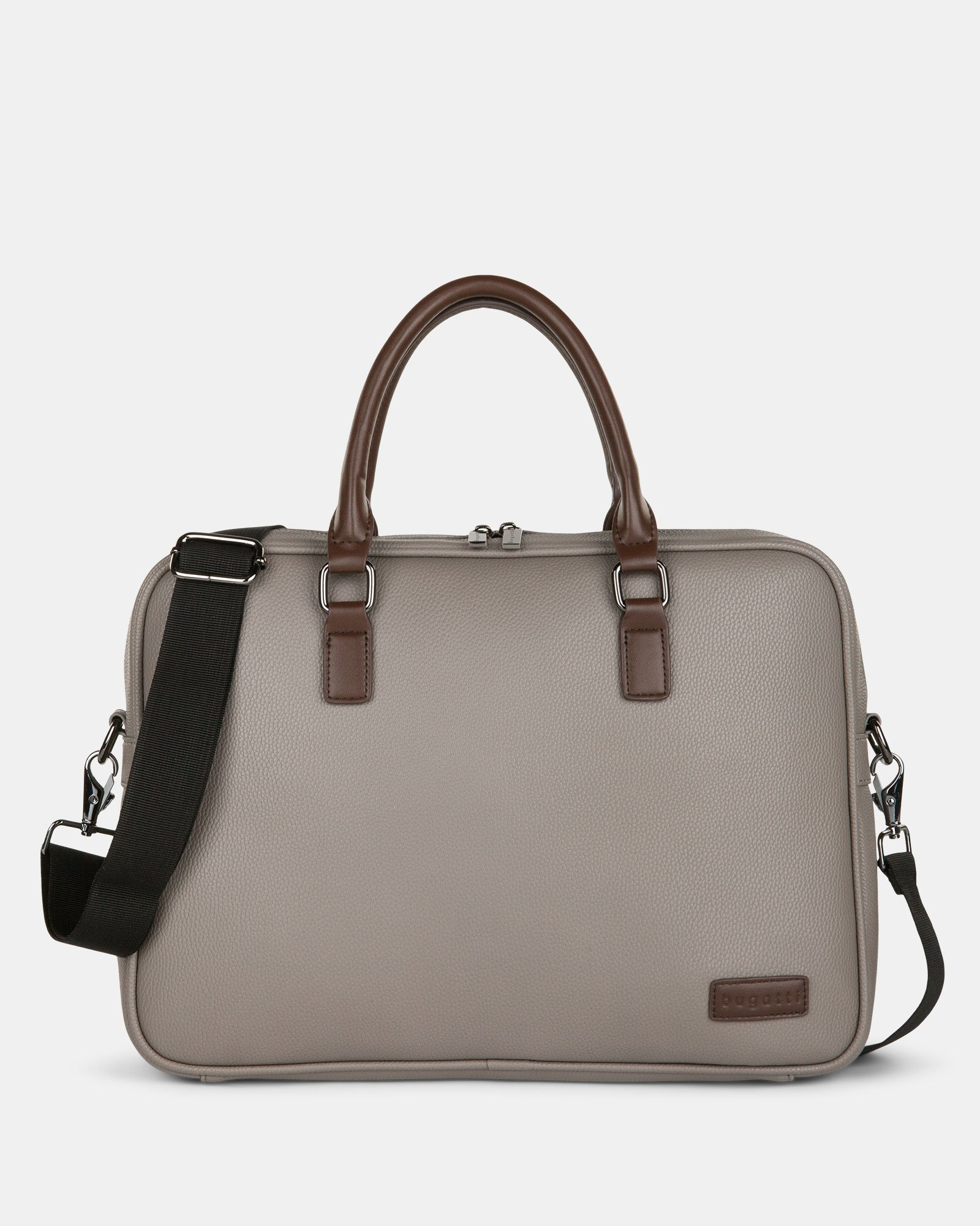 """Contrast - Briefcase with Padded laptop section – fits mots 14"""" - GREY - Bugatti - Zoom"""