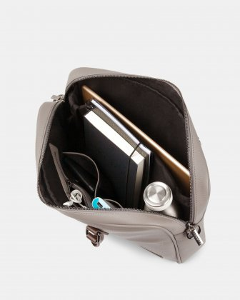 "Contrast - Briefcase with Padded laptop section – fits mots 14"" - GREY Bugatti"