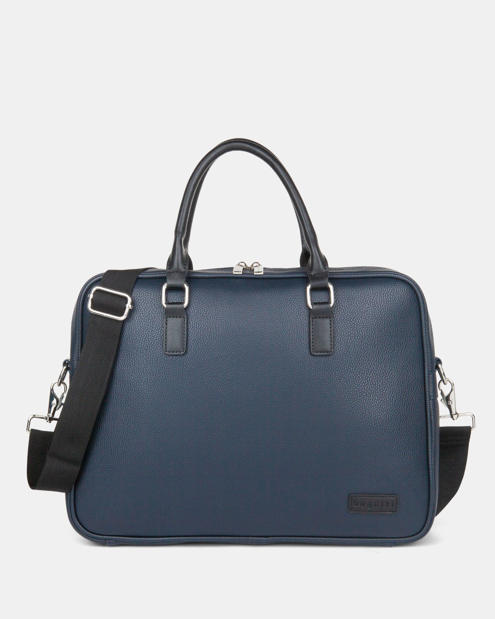 "Contrast - Briefcase with Padded laptop section – fits mots 14"" - NAVY - Bugatti - Zoom"