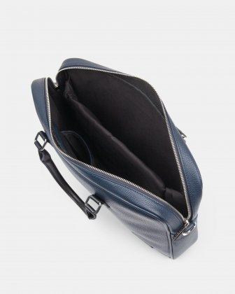 "Contrast - Briefcase with Padded laptop section – fits mots 14"" - NAVY - Bugatti"