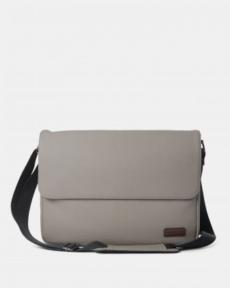 "Contrast - Messenger Bag WITH Padded laptop section - fits most 14"" - Grey Bugatti"