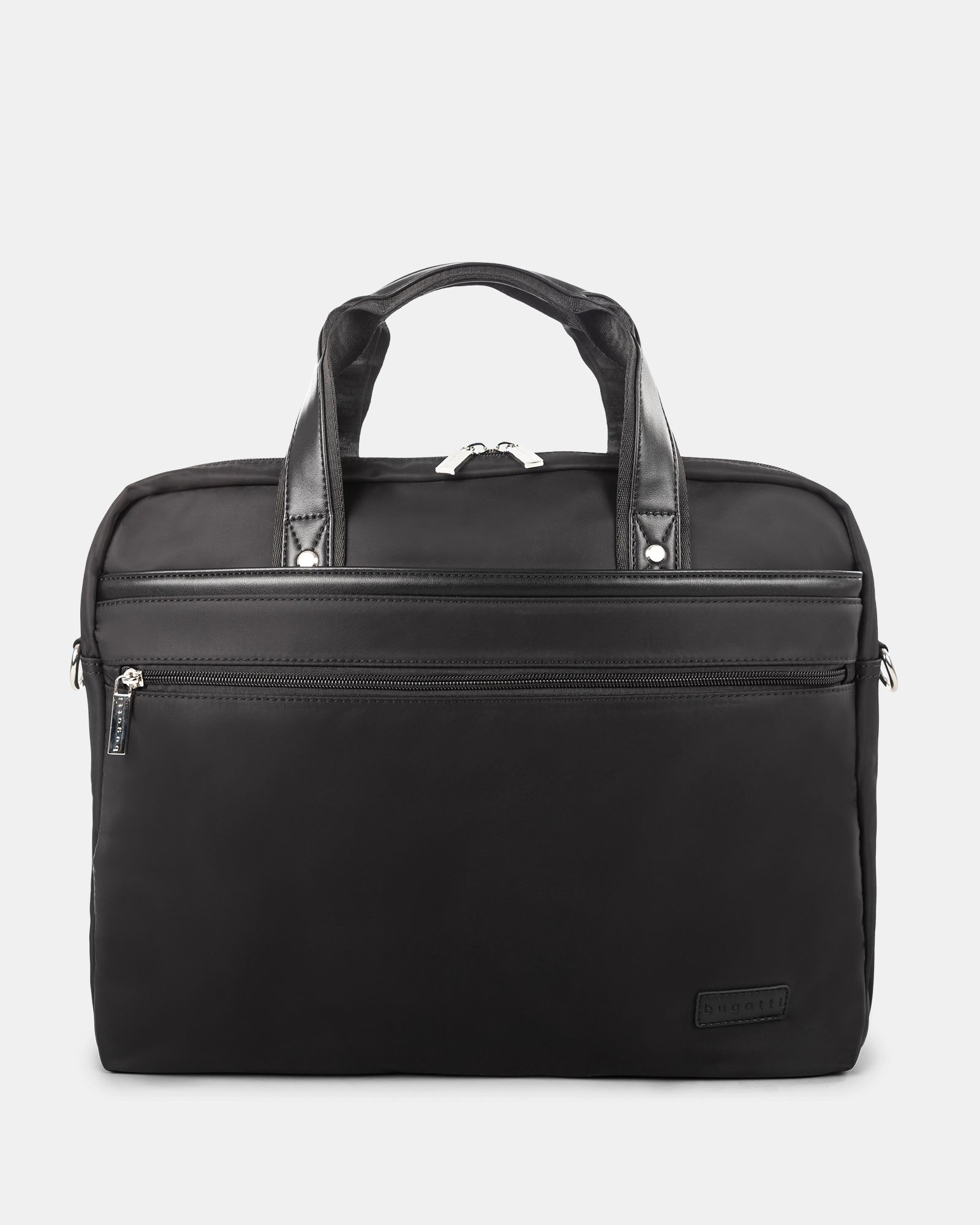 """Moretti - Briefcase with Padded laptop compartment – fits most 15.6"""" - Black - Bugatti - Zoom"""