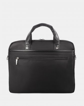 """Moretti - Briefcase with Padded laptop compartment – fits most 15.6"""" - Black - Bugatti"""