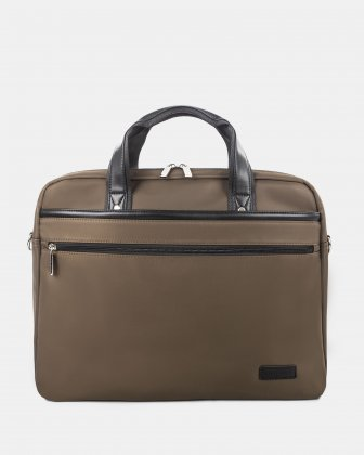"Moretti - Briefcase with Padded laptop compartment – fits most 15.6"" - Khaki Bugatti"