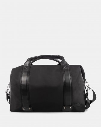 Moretti - Duffle Bag with Adjustable and removable shoulder strap - Black Bugatti