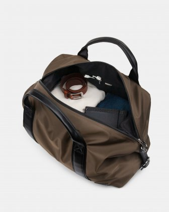 Moretti - Duffle Bag with Adjustable and removable shoulder strap - Khaki Bugatti