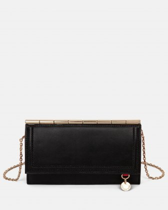 Amore – Wallet on string with Removable chain crossbody strap - Black Céline Dion