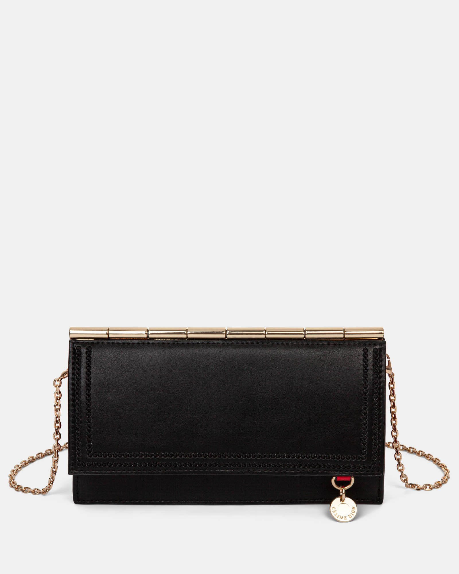 Amore – Wallet on string with Removable chain crossbody strap - Black - Céline Dion - Zoom