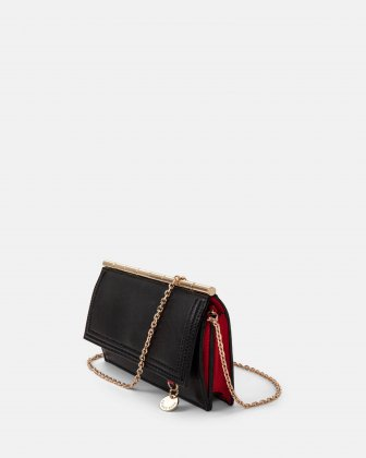 Amore – Wallet on string with Removable chain crossbody strap - Black - Céline Dion