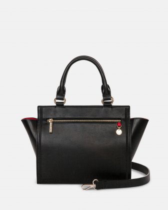 Amore – Satchel with Removable and adjustable crossbody strap - Black Céline Dion