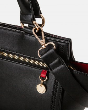 Amore – Satchel with Removable and adjustable crossbody strap - Black - Céline Dion