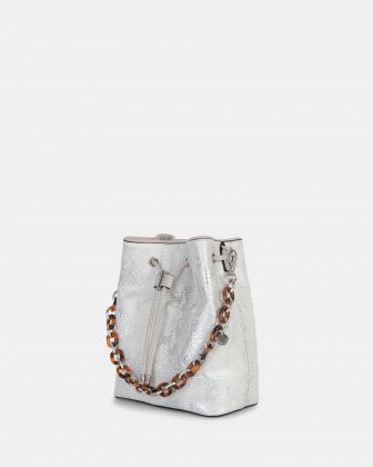 Duo - Satchel with adjustable and detachable crossbody strap - white/snake - Céline Dion