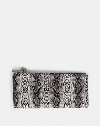 Duo - Wallet with zipper compartment - black/snake Céline Dion