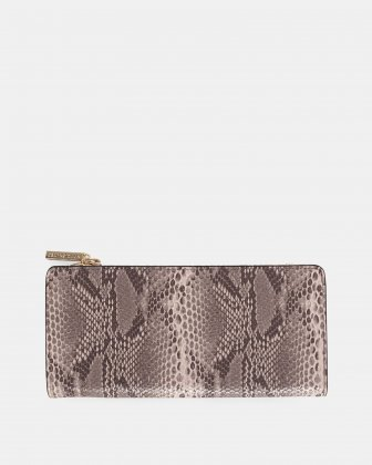 Duo - Wallet with zipper compartment - blush/snake Céline Dion