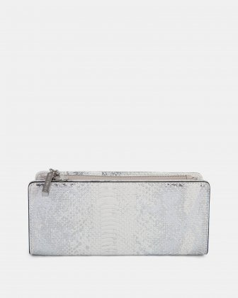 Duo - Wallet with zipper compartment - white/snake - Céline Dion
