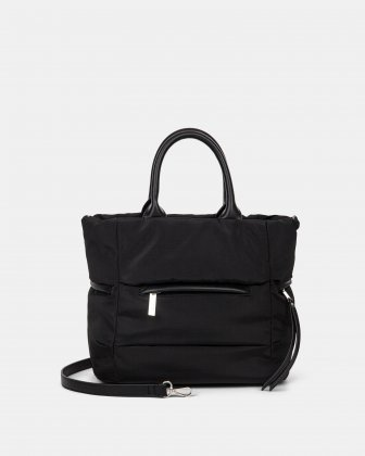 Hi Cloud - Tote bag with Main zippered compartment - Black Joanel