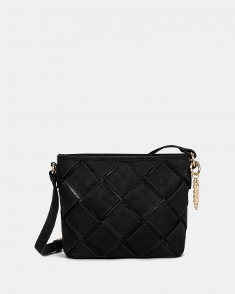 In Between - Crossbody with Main zippered compartment - Black Joanel