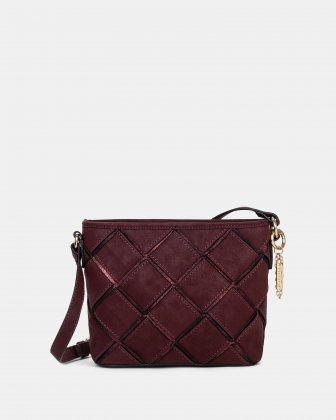In Between - Crossbody with Main zippered compartment - Red Joanel