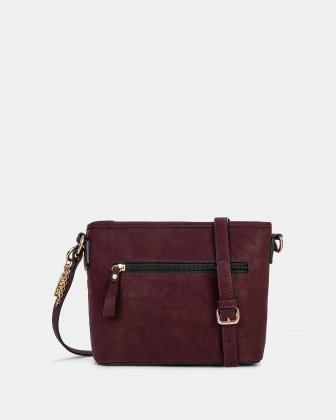 In Between - Crossbody with Main zippered compartment - Red - Joanel