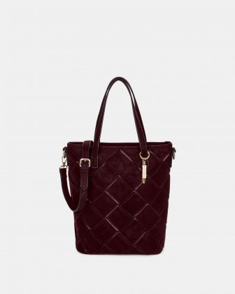In Between - Tote bag with Adjustable crossbody strap - Red Joanel