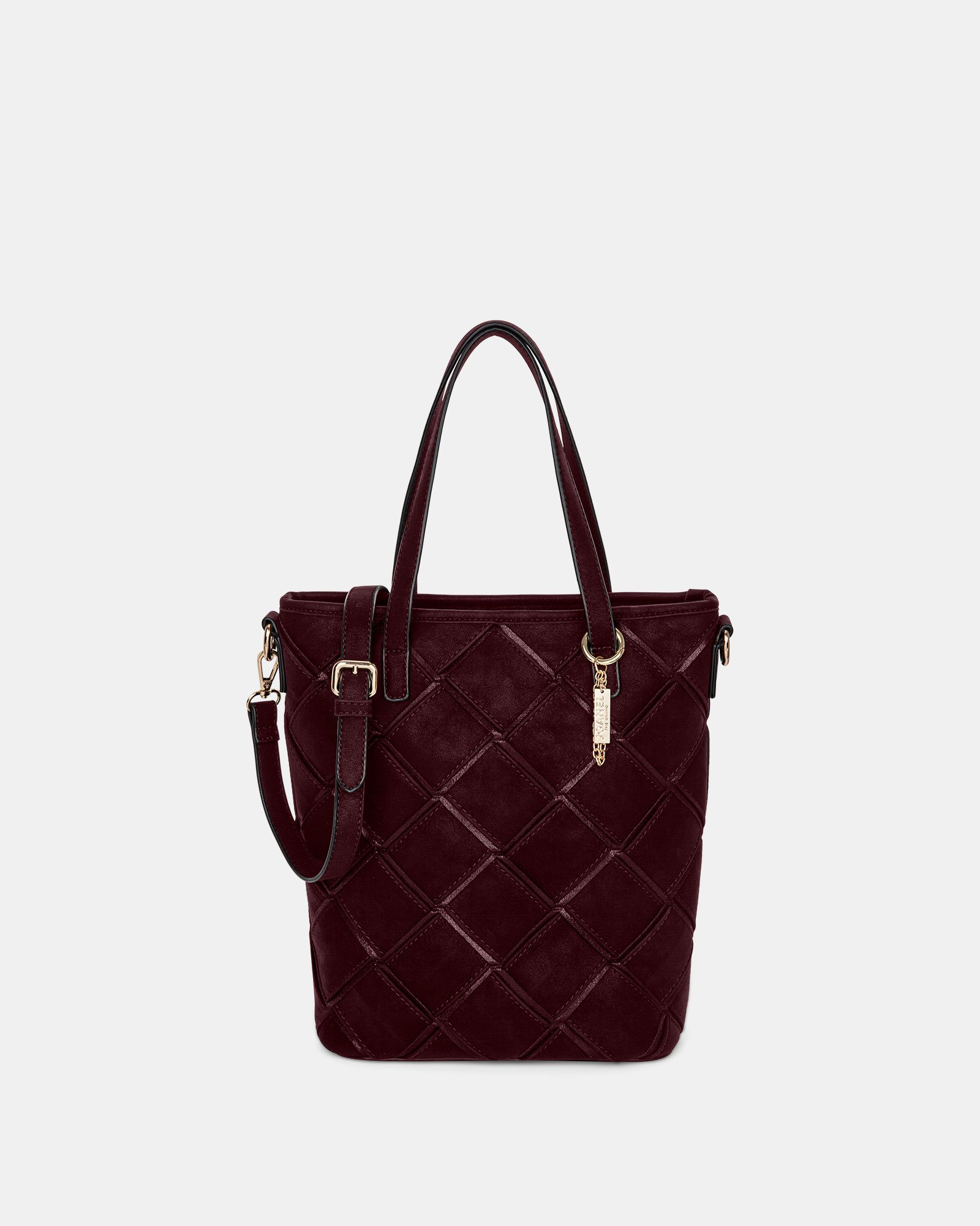 In Between - Tote bag with Adjustable crossbody strap - Red - Joanel - Zoom