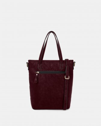 In Between - Tote bag with Adjustable crossbody strap - Red - Joanel