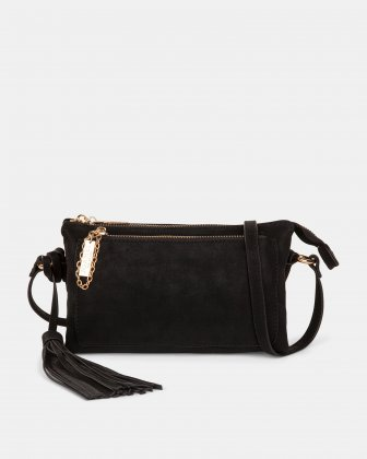 In Between - Crossbody with Central section is with zipper closure - Black Joanel