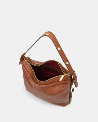 Rock N Gold - Hobo with Adjustable shoulder strap - Tan Joanel