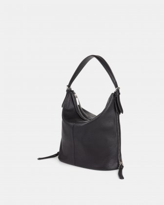 Zoom - Hobo with Adjustable shoulder strap - Black Joanel