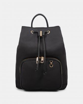 NYLON - Convertible backpack 2 in 1 WITH RFID PROTECTION - BLACK Céline Dion