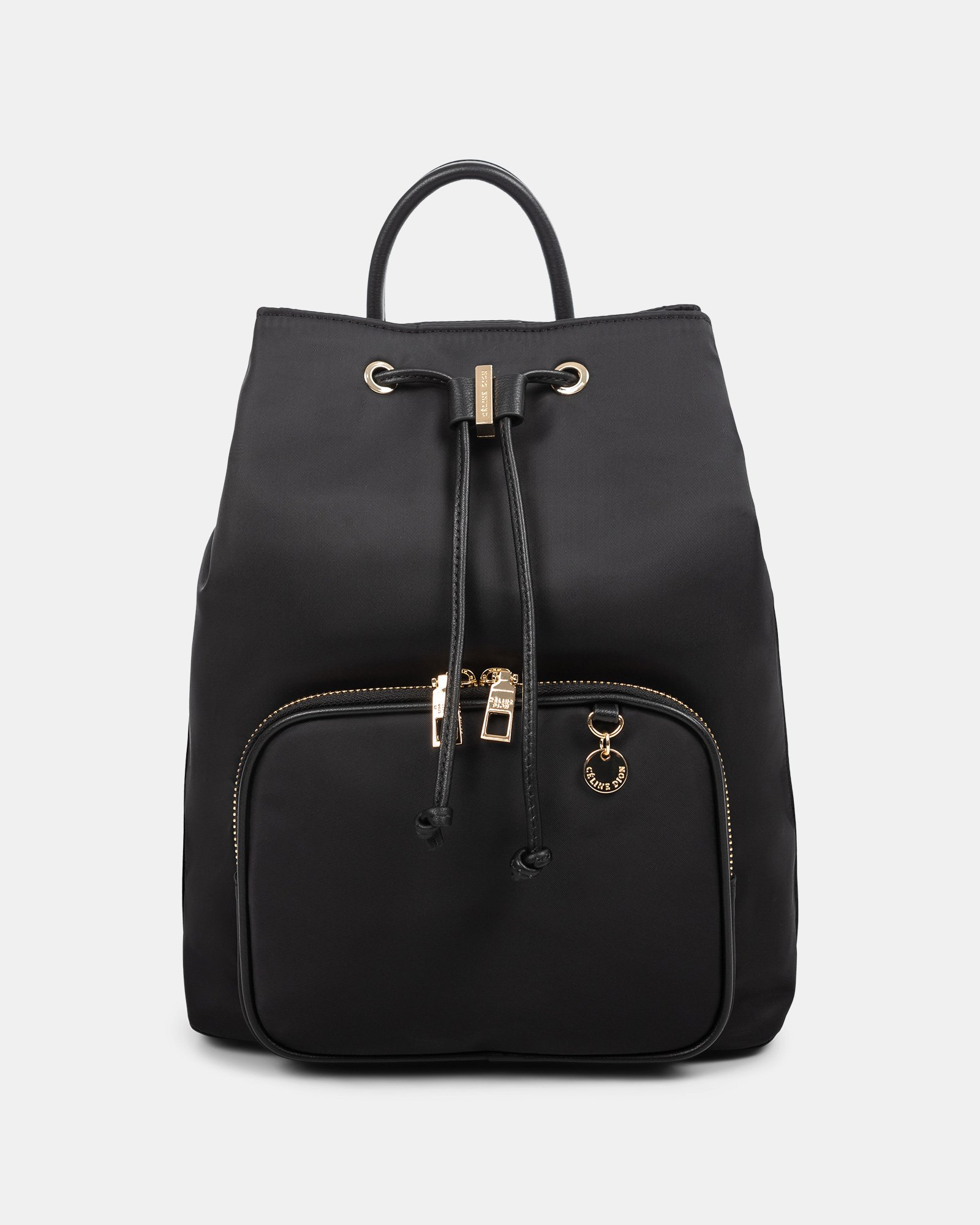 NYLON - Convertible backpack 2 in 1 WITH RFID PROTECTION - BLACK - Céline Dion - Zoom