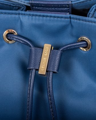 NYLON - Convertible backpack 2 in 1 WITH RFID PROTECTION - DENIM - Céline Dion