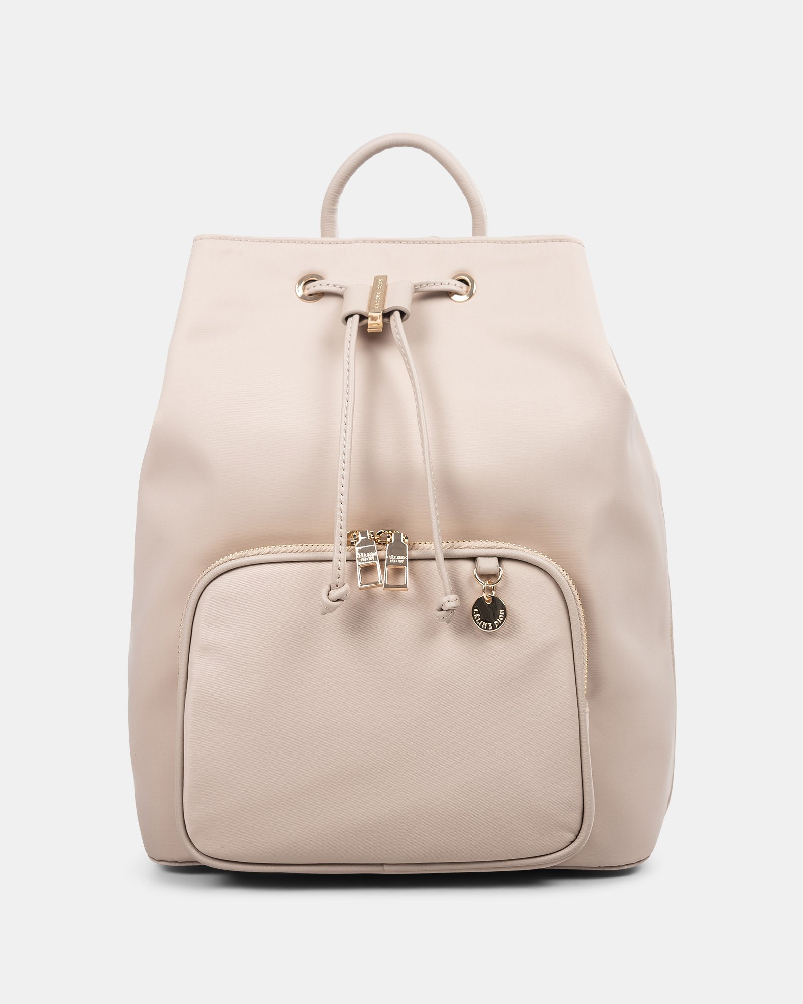 NYLON - Convertible backpack 2 in 1 WITH RFID PROTECTION - TAUPE - Céline Dion - Zoom