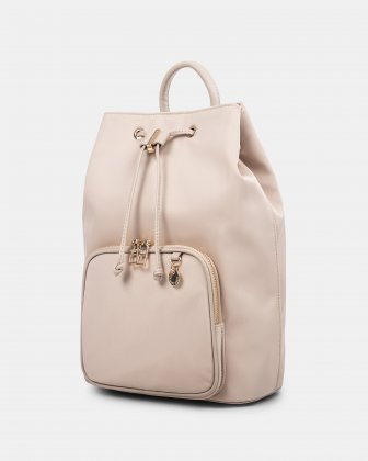 NYLON - Convertible backpack 2 in 1 WITH RFID PROTECTION - TAUPE - Céline Dion