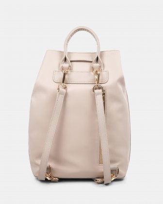 NYLON - Convertible backpack 2 in 1 WITH RFID PROTECTION - TAUPE Céline Dion