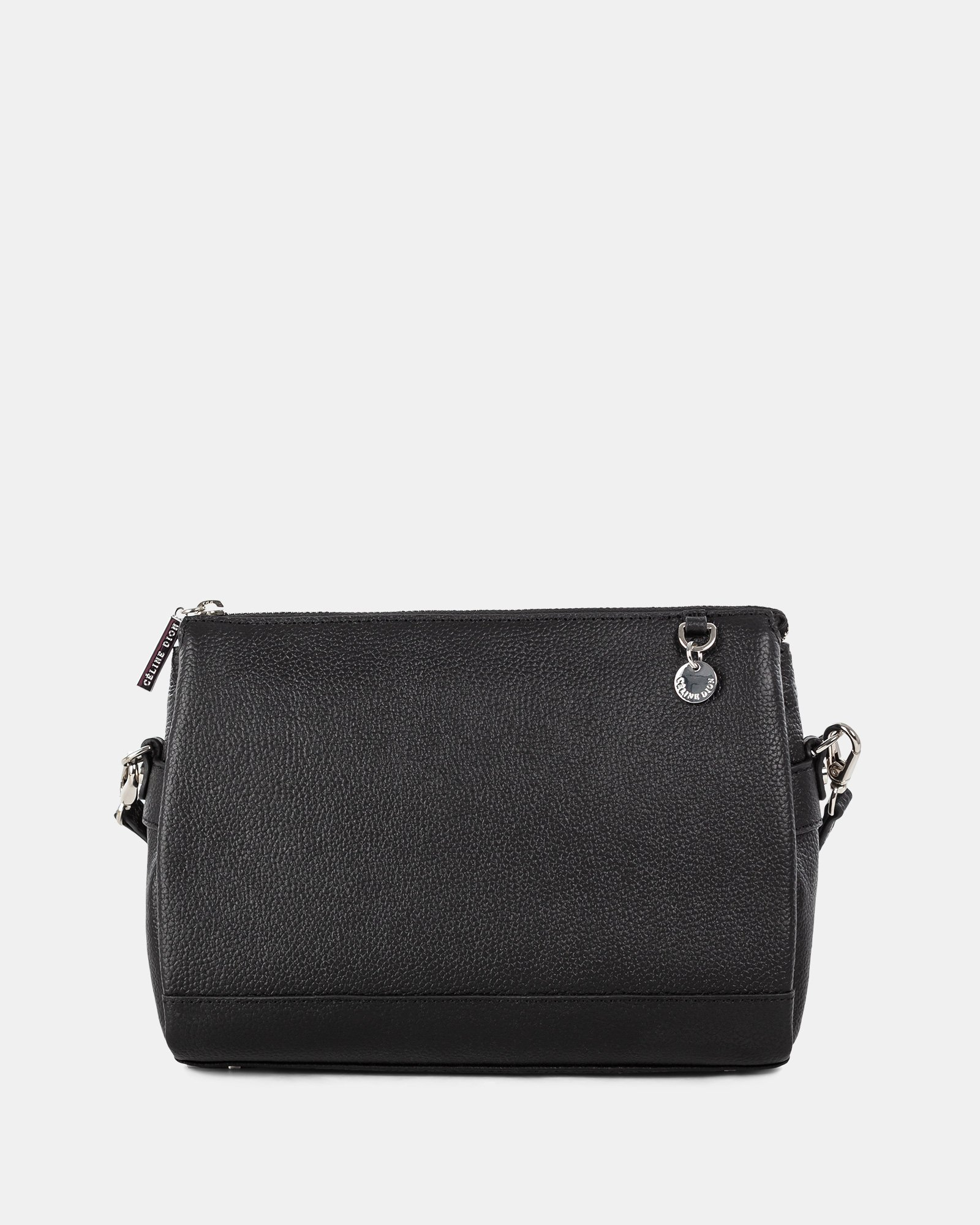 FALSETTO - LEATHER crossbody bag with RFID protection - BLACK - Céline Dion - Zoom
