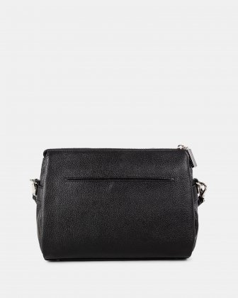FALSETTO - LEATHER crossbody bag with RFID protection - BLACK - Céline Dion