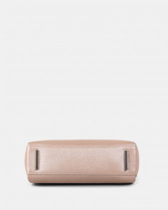 FALSETTO - LEATHER crossbody bag with RFID protection - Rosegold - Céline Dion