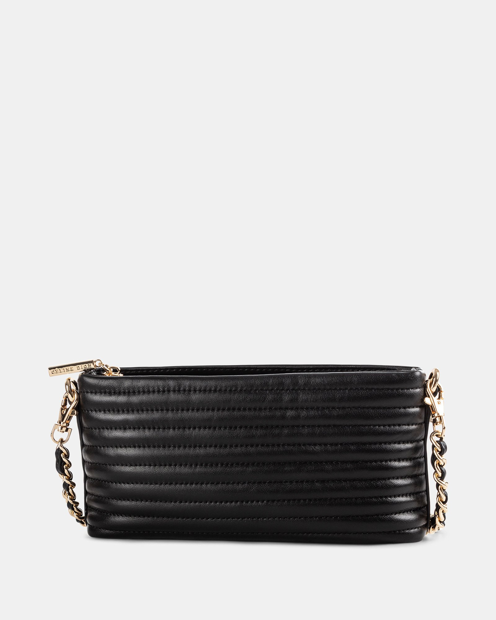 VIBRATO - Quilted leather crossbody with removable strap- BLACK - Céline Dion - Zoom