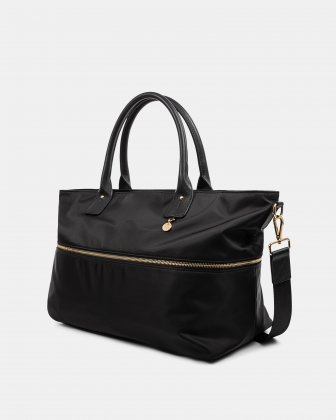 NYLON - DUFFLE BAG WITH RFID PROTECTION - BLACK Céline Dion